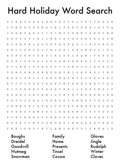 christmas word puzzle word search printables holidappy