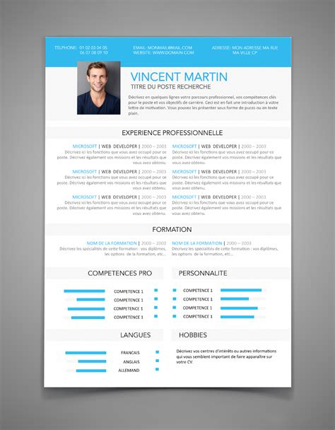De Cv Professionnel 2016 by Forme De Cv 2015 Model Cv Professionnel Word Gratuit