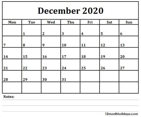 december  calendar australia  holidays blank