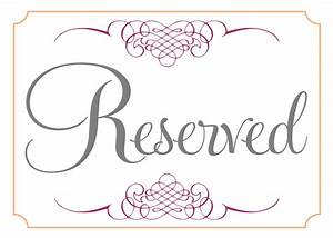 room reserved template calendar template 2016 With reserved seating signs template