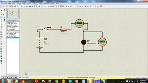 connect voltmeter ammeter   circuit proteus