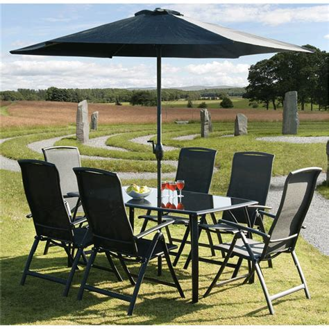 gardens and homes direct black 6 seat outdoor