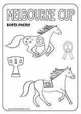 Melbourne Cup Printable Colouring Craft Printables Race Horse Coloring Crafts Activities Racing Worksheets Handmade Sheet Handmadekids Keep sketch template