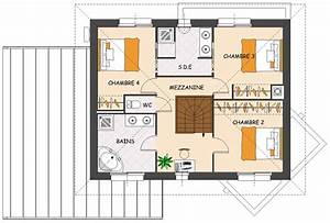 wonderful plan maison avec mezzanine photos best image With attractive faire un plan maison 10 maison de ville avec patio