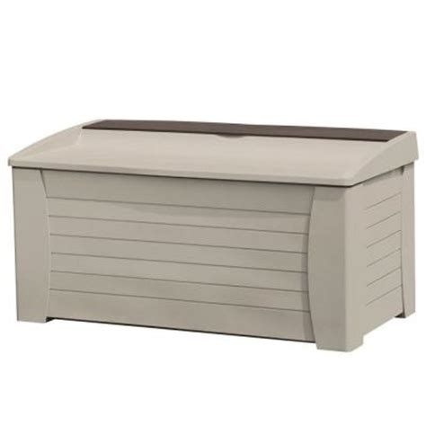 Suncast Db12000pb Deck Box 127 Gallon by Suncast 127 Gallon Deck Box With Seat Discontinued