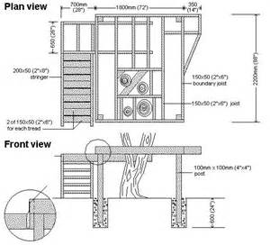 Free Tree House Plans Blueprints
