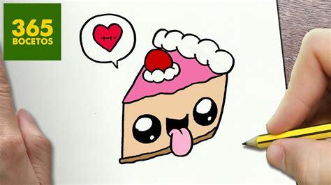 como dibujar tarta kawaii paso  paso dibujos kawaii faciles   draw  cake youtube