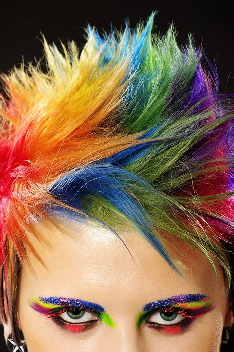 Short Rainbow Hair Color Hair Colors Ideas