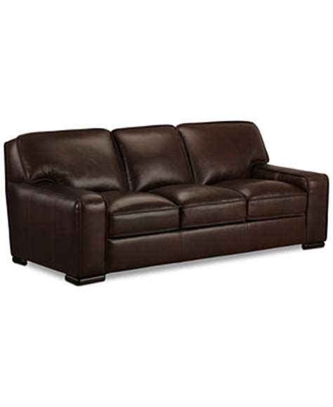 kassidy leather sofa only at macy s furniture macy s
