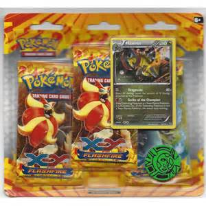 pokemon pokemon cards xy flashfire haxorus 3 pack blister booster p259