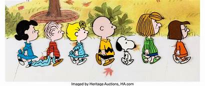 Charlie Peanuts Characters Brown Cel Bill Animation