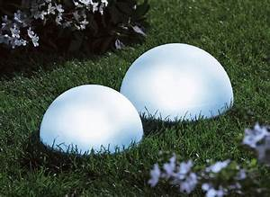Gartenbeleuchtung Solar Kugel : solarhalbkugel gartenbeleuchtung gartenlicht solarlicht kugel solarleuchte ebay ~ Sanjose-hotels-ca.com Haus und Dekorationen