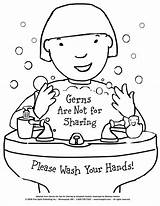 Hygiene Germs Sharing Coloring Pages Printable Teach Lessons Preschool Health Hand Kindergarten Teaching Visit sketch template