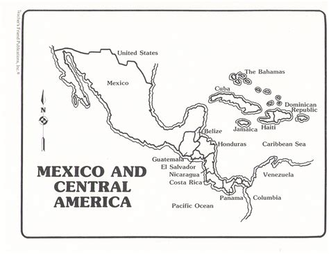 Central America Coloring Page Coloring Page