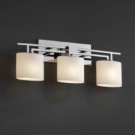 Deco Bathroom Lighting Fixtures by Justice Design Fusion Aero Three Light Bath Fixture