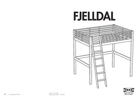 loft bunk bed with mode d 39 emploi ikea fjelldal trouver une solution à un