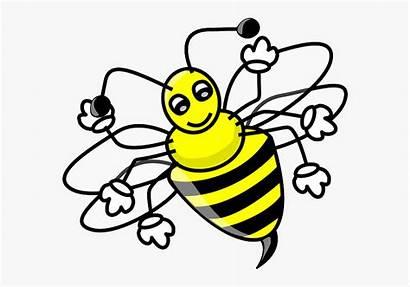 Bee Bumble Cartoon Clipart Clip Fly Bumblebee