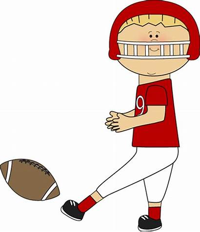 Football Player Clipart Clip Kicking Players Cliparts