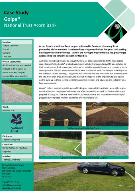 geosynthetics national trust acorn bank golpla