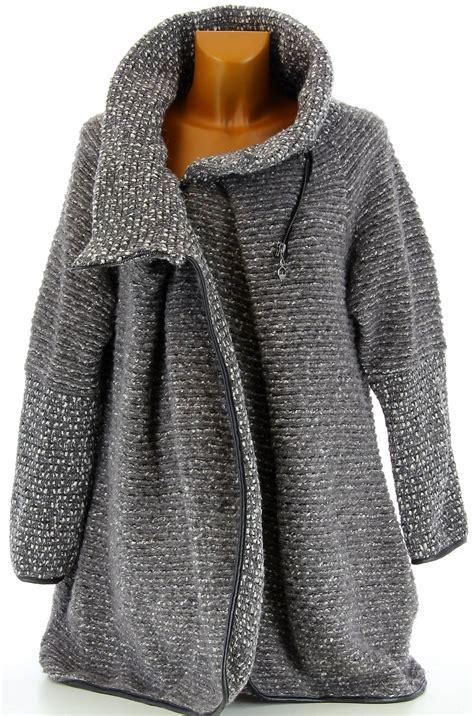 manteau cape bouillie hiver grande taille gris violetta
