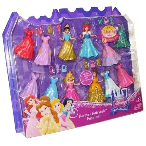 disney princess kingdom magiclip forever fairytale fashions 4 dolls new ebay
