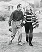 Ingrid Bergman leads her husband, Dr. Peter Lindstrom, up ...