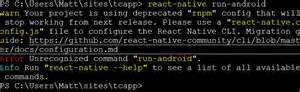 Javascript React Native Warning Your Project Is Using