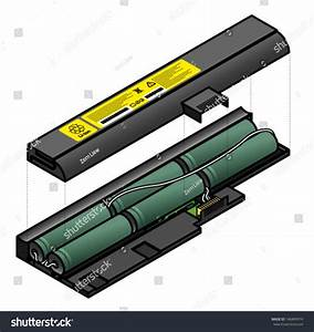 Diagram Showing The Inside Components Of A Laptop Battery