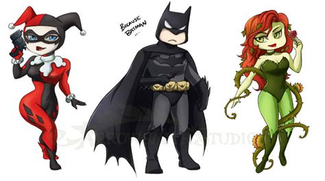 Dc Stickers Batman Poison Ivy Harley Quinn By