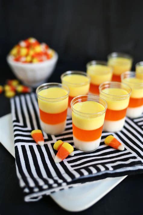 candy corn jello shots  beautiful mess