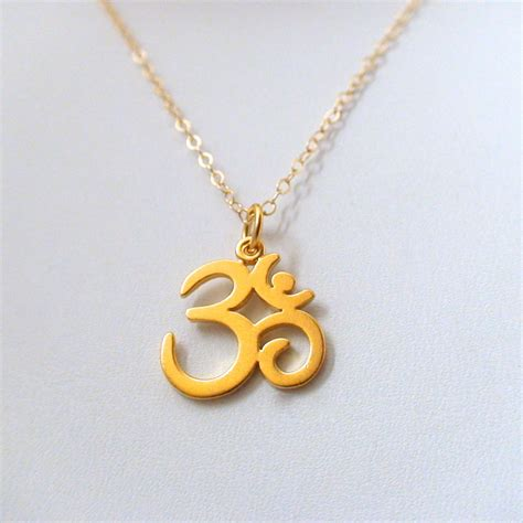 Ohm Necklace - 24k Gold Plated Sterling Silver