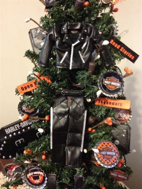 18 quot lighted harley davidson theme tree kork s corner