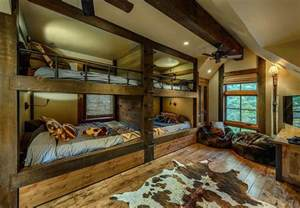 spectacular bunk room plans spectacular cabin retreat brings rustic texan charm to