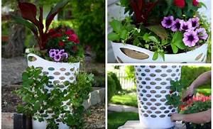 Jardiniere Pas Chere : voici comment faire une jardini re avec un panier une astuce pas ch re tr s facile faire ~ Melissatoandfro.com Idées de Décoration