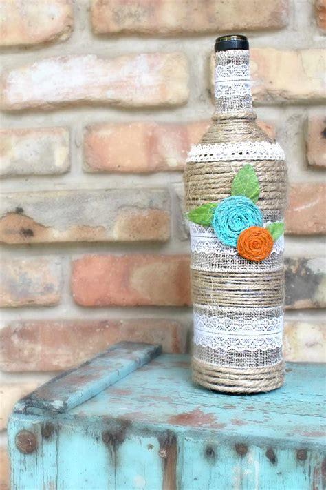 bottle art  twine lace easy peasy creative ideas