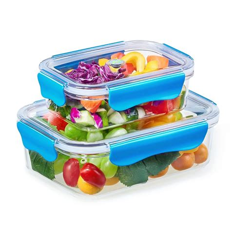 pvc cuisine exlary pcs plastic food containers bento lunch box bpa
