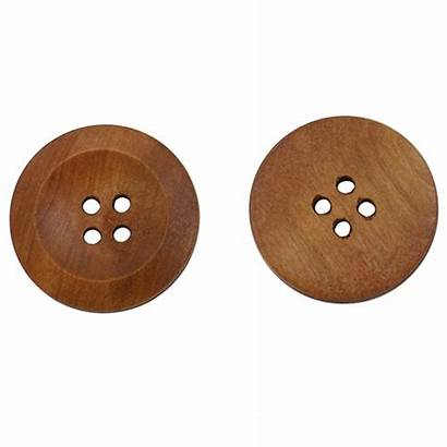 Buttons Sewing Wooden Diy Wood Craft Holes