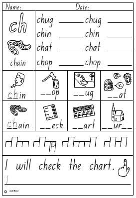 vocabulary 2nd grade activity sheet digraph ch skills interactive activity lessons