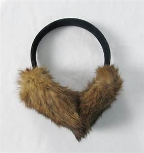Vintage Fluffy Rabbit Fur Ear Muffs /// Winter Warm by ...