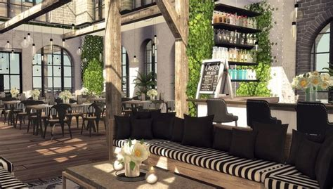 blooming rosy skylight restaurant  bar sims  downloads