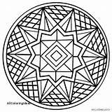 Kaleidoscope Coloring Pages Getdrawings sketch template