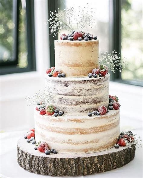 kuchen  naked berry cake  weddbook