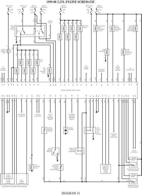 2000 Acura Tl Electric Schematic by Wiringdiagrams Engine Schematic Wiring Diagram For 1999
