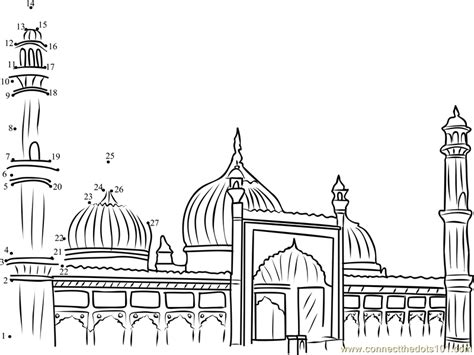 mosque outline related keywords sketch coloring page