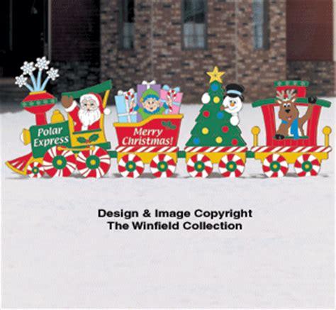 santa elves christmas train woodcraft pattern