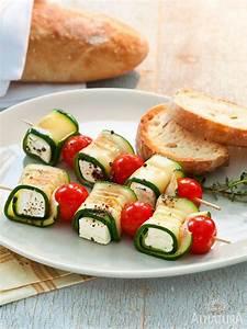 Vegetarisches Zum Grillen : zucchini kaese spiesse rezept in 2019 grillen rezepte ~ A.2002-acura-tl-radio.info Haus und Dekorationen