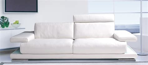 canapé blanc en cuir canape cuir blanc