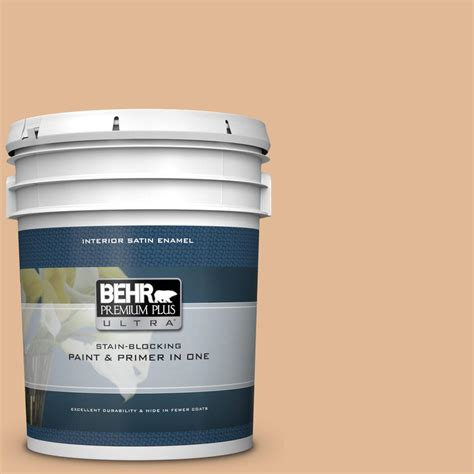 behr premium plus ultra 5 gal s250 3 honey nougat satin