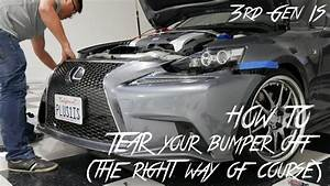 How To Remove The Front Bumper On Lexus 2014 2015 2016