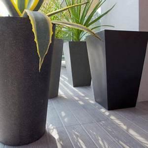 Castorama Pot De Fleur : pot haut rond 37 cm noir castorama ~ Melissatoandfro.com Idées de Décoration